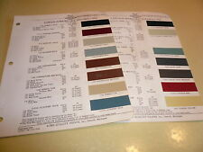 1952 Lincoln-Mercury ACME Color Chip Paint Sample