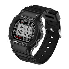 Military Waterproof Men's LCD Digital Stopwatch Date Rubber Sports Wrist Watches