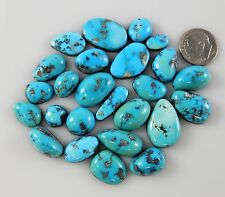 Natural Kingman Arizona Turquoise Ithaca Peak Blue Cabochons Gemstones k144