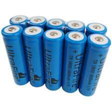 10 x 3.7V 18650 3800mAh Li-ion Rechargeable Battery For Ultrafire Flashlight
