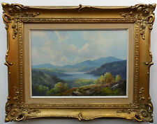 DOUGLAS FALCONER 1913-2004 ORIGINAL SIGNED OIL PAINTING 'LAKE WINDERMERE'