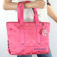 NWT Coach Kyra Daisy Signature Tote Shoulder Crossbody Bag F18844 Hibiscus Pink