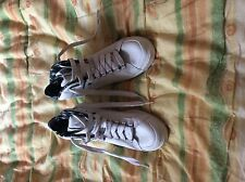 New K-Swiss White/blue/black hi top laced trainers/sneakers size 5/5.5/6 bargain