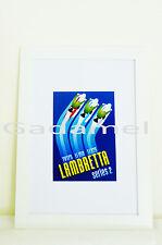 Riproduzione Stampa pubblicitaria con cornice cm. 21x30 LAMBRETTA