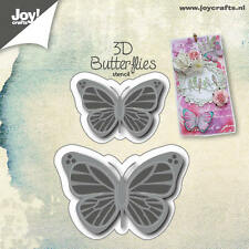 Joy Crafts Die Cutting & Embossing Stencil - 3D Butterflies - 6002/0553 - New