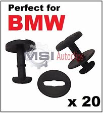 20 x BMW Floor Carpet Mat Clips E36 E46 E38 E39 Series Twist Lock with Washers