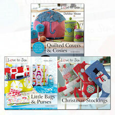 Love to Sew Collection 3 Books Set Quilted Covers and Cosies,Little Bags & Purse