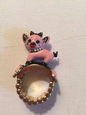 Betsey Johnson Pig With Pearls Stretch Ring