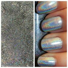 SB Silver Holographic MERMAID EFFECT Nail Art Powder Glitter GEL & ACRYLIC 50g