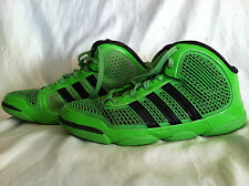 PRE-OWNED Mens ADIDAS Shoes 11.5 Green/Black Basketball PUREMOTION ADIPRENE