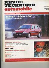 (5B)REVUE TECHNIQUE AUTOMOBILE ROVER série 100 Essence et diesel