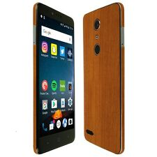 Skinomi Light Wood Skin+Clear Screen Protector for ZTE ZMax Pro