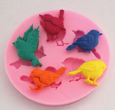 Silicone Bird Cake Fondant Sugarcraft Pastry Clay Baking Mold Decorating Mould