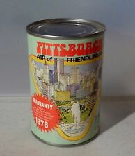1978 Vintage Can of PITTSBURGH AIR OF FRIENDLINESS Gag Gift Warranty