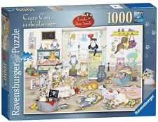 RAVENSBURGER PUZZLE*1000 TEILE*CRAZY CATS IN THE PLAYROOM*LINDA JANE SMITH*OVP