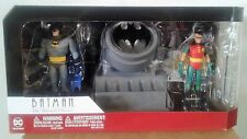 DC BATMAN ANIMATED SERIES BATMAN AND ROBIN WITH BAT SIGNAL BOX SET