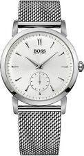 Hugo Boss - Men's Silver-Tone Stainless Steel Mesh Strap Watch - 1512778