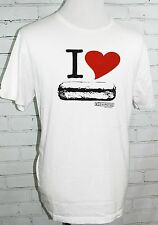 "Chipotle ""I Love Burritos / I Love Chipotle"" White SS T-Shirt Loomstate Men's XL"