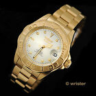 AUTOMATIC Invicta Pro Diver 18k GOLD Plated Champagne Dial NH35A $345 Mens Watch