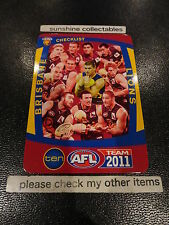2011 AFL TEAMCOACH BASE CARD BRISBANE TEAM CHECKLIST