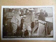.WW1 Period Postcard:With the American Fleet, Keen as Mustard in the U-Boat Hunt