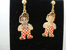 "BIG BOY Earrings 1.25"" Hamburger Diner Bob's Elias Brothers Frisch's Shoneys"