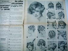 coiffure LA VOIX DE LA COIFFURE FRANCAISE revue n° 50 1968 - 6 modèles expliqués