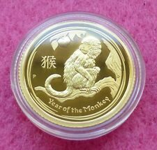2016-P AUSTRALIA SERIES II LUNAR YEAR OF  MONKEY $15 1/10TH GOLD PROOF COIN CO