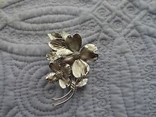 Vintage Silver Sterling Dogwood Brooch/Pin~HSB~Harry S Bick