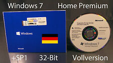 Microsoft windows 7 home premium version complète sb 32-bit hologramme-CD +sp1 OVP NOUVEAU