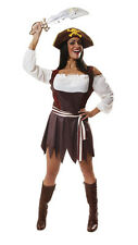 SEXY PIRATE WOMAN FANCY CARIBBEAN LADY COSTUME HALLOWEEN PIRATESS HB