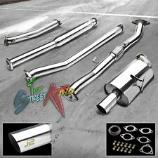 "J2 FOR NISSAN ALTIMA 2.5 STAINLESS STEEL CATBACK EXHAUST SYSTEM 3.0""MUFFLER TIP"
