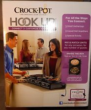 Crock-Pot Hook Up SCCPMD1-CH Connectable System 2 - 1 Quart Ovals Dual Slow Cook