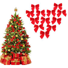 12xBow Christmas Tree Decoration Xmas Hanging Ornament Bowknot Party Home Decor#