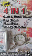 GEM, MONEY AND MINERAL ROCK TESTER KEYCHAIN TOOL