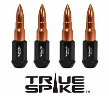 20PC VMS RACING 89MM 12X1.5 STEEL LUG NUTS W/ ROSE GOLD EXTENDED BULLET SPIKES