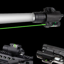 Tactical CREE Q5 LED Flashlight Green Laser Sight for 20mm Picatinny Weaver Rail