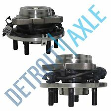 Pair of 2 Front Driver and Passenger Wheel Hub and Bearing 4WD 4x4 6 Bolt w/ ABS