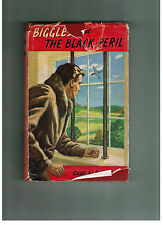 W. E. JOHNS  Biggles and the Black Peril - 1950s in dustwrapper