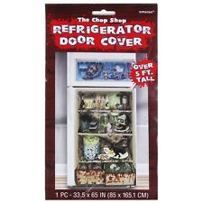 HALLOWEEN THE CHOP SHOP FRIDGE DOOR COVER OVER 5FT TALL PARTY DECORATION
