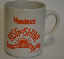 1993 HARDEE'S ~ Rise & Shine ~ Made From Scratch Biscuits ~ Cup Mug Advertising