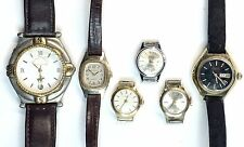 VINTAGE LOT OF 6 ASSORTED WRIST WATCHES ~ ESTATE FIND ~ POLO CLUB  TIMEX  SEIKO
