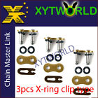 3 Motorcycle X Ring 520 Chain MASTER JOINT LINKS CLIP chip type joining link