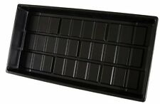 (3) Seedling Tray Flat Cut Kit 10 x 20 1020 No Holes Black Propagation