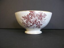 Vintage Cafe Au Lait Bowl Brown Aesthetic Transferware