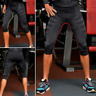 Men Compression GYM Wear Training Leggings Fitness Skin Tight 3/4 Cropped Pants