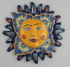 Mexican Talavera  Ceramic Sun Face Wall Decor Hanging Pottery Folk Art  # 11