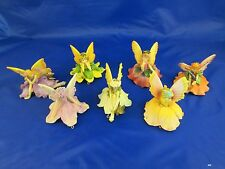 Lot of 7 Resin PASTEL Hanging Garden Fairies in Various Poses