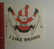Aufkleber/Sticker: Geze i like Skiing (191016112)