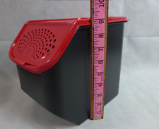 Tupperware Potato Mate Storage Modular Mates 5-qt Black Container Red Lid New